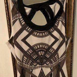 Black and white Kardashian dress